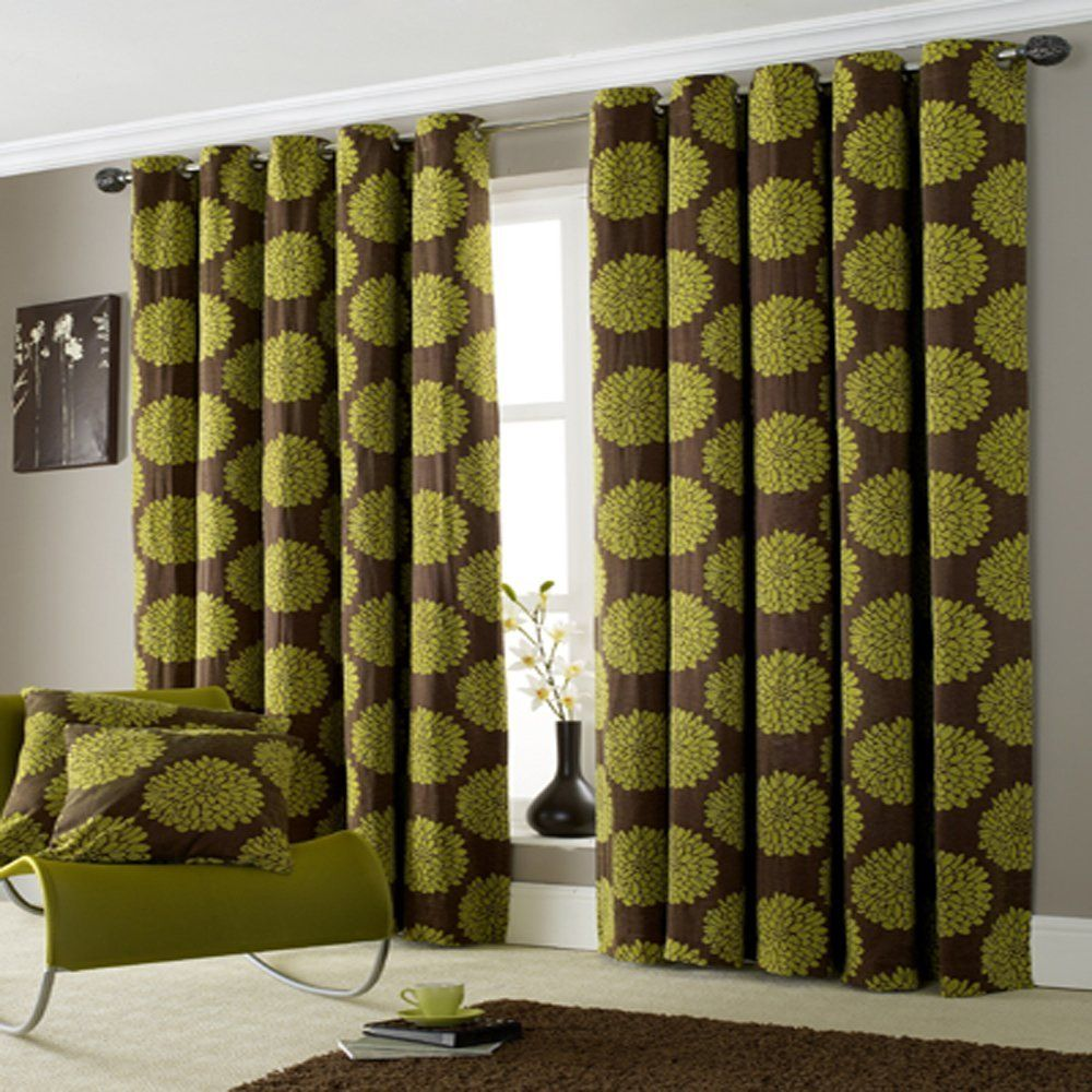 green curtains curtains u203a all curtains u203a lime green ring top lined