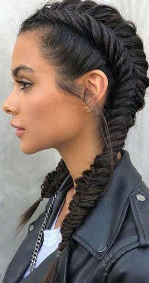 Pin By Stella On Hairstyles In 2020 Hair Hacks Cute Hairstyles For Teens Braided Hairstyles Easy