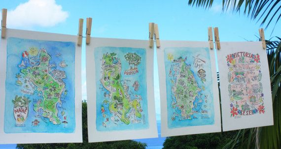 Our Limited Edition Map Series Of Seychelles Includes The
