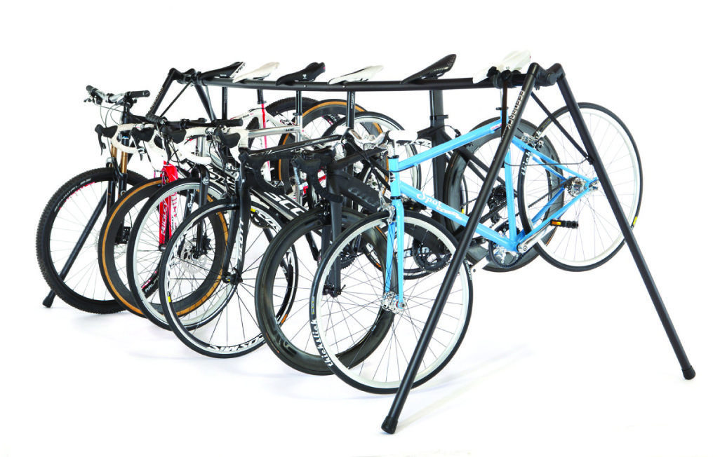 Freestanding Portable Bike Rack For Races Or Home Storage