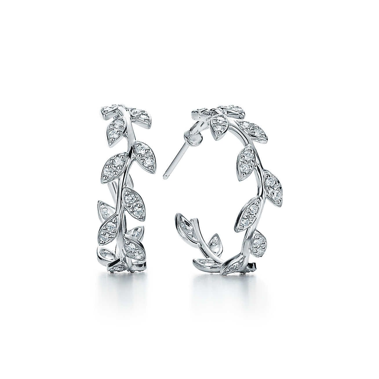 Paloma Pico Olive Leaf Hoop Earrings
