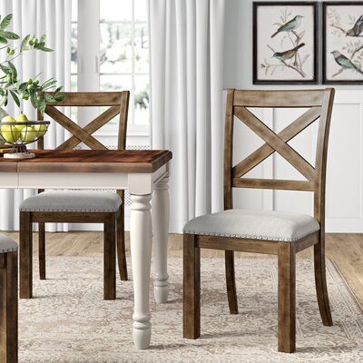 Laurel Foundry Modern Farmhouse Bishop Upholstered Dining Chair