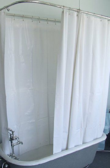 Extra Wide Shower Curtain For A Clawfoot Tub White With Magnets