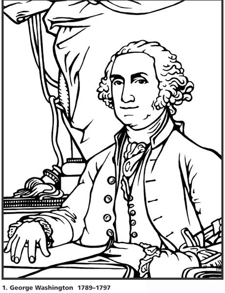 George Washington Coloring Page Pages Of All 44