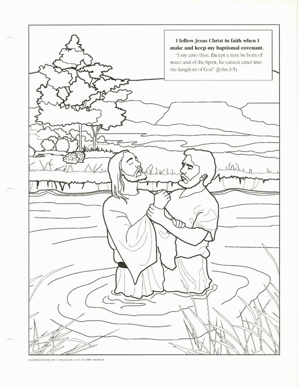 Jesus Baptism Coloring Page Jesus Coloring Pages Lds Coloring Pages Bible Coloring Pages