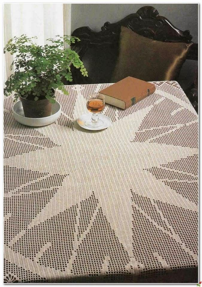 Crochet and arts: Crochet tablecloth | mamtelitos | Pinterest ...