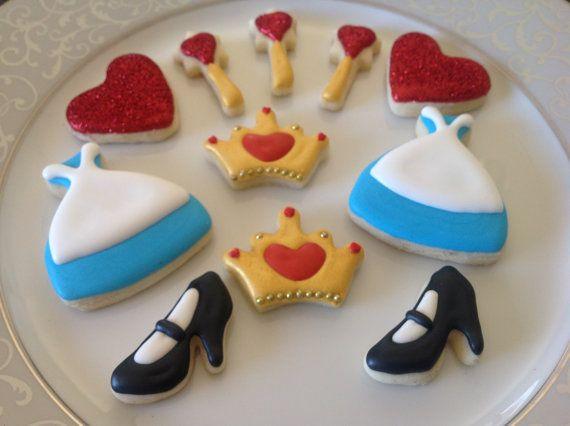 Dainty Petite Alice in Wonderland Sugar Cookies