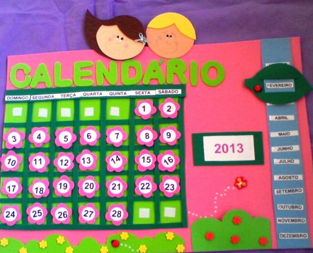 Calendarios Con Goma Eva Calendario Para Niños Calendario Calendario Preescolar