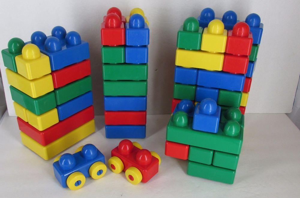 Lego Duplo Primo Big Building Blocks 69 Blocks Cars Primary Colors #LEGO