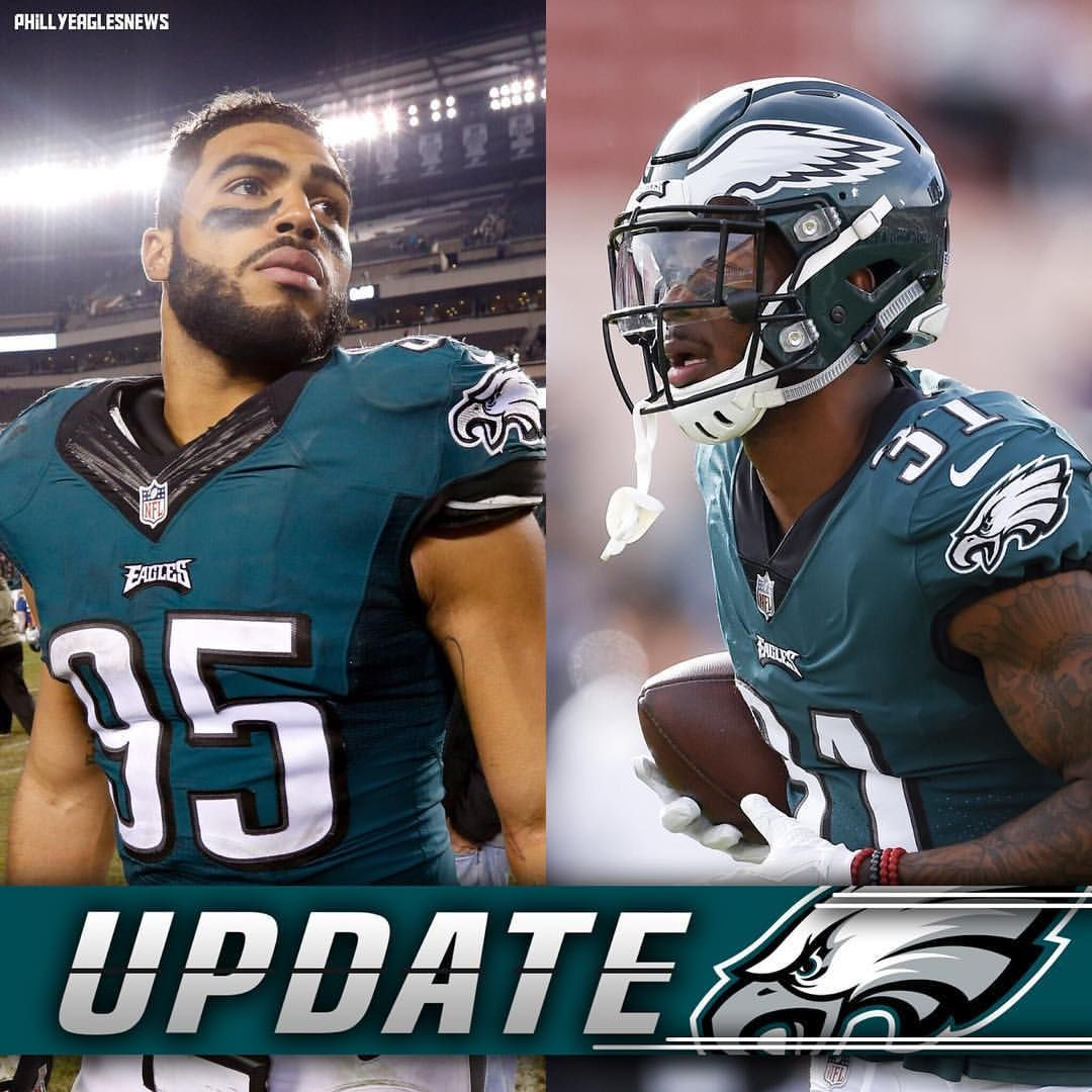 9f16c0539 Jalen Mills (ankle) and Mychal Kendricks (foot) were both full participants  in todays practice and are listed as questionable for Monday night.