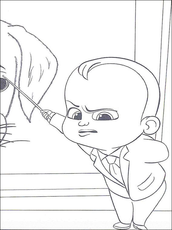 Boss Baby Coloring Pages 16