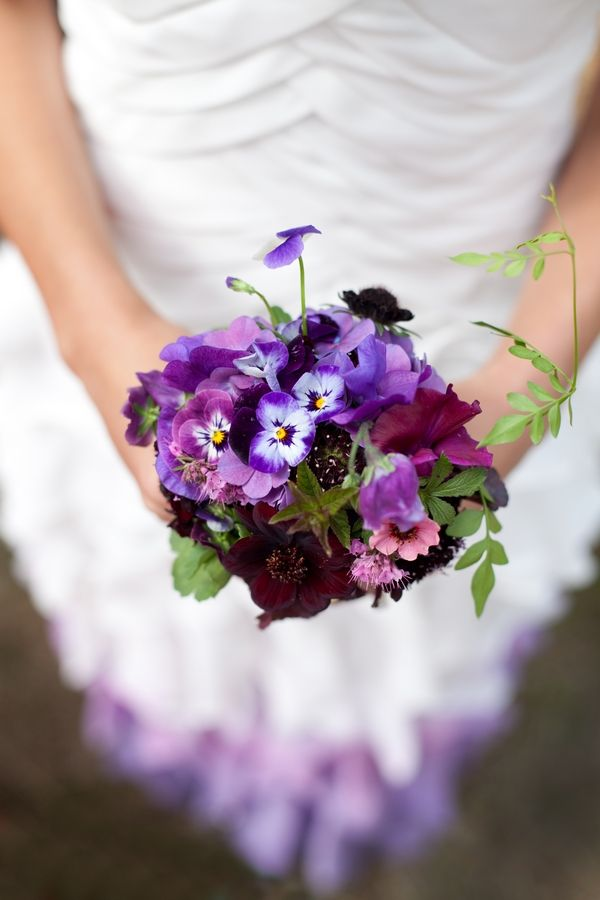 Purple Pansy And Berry Wedding Bouquet Wedding Bouquets Wedding Flowers Cheap Wedding Flowers