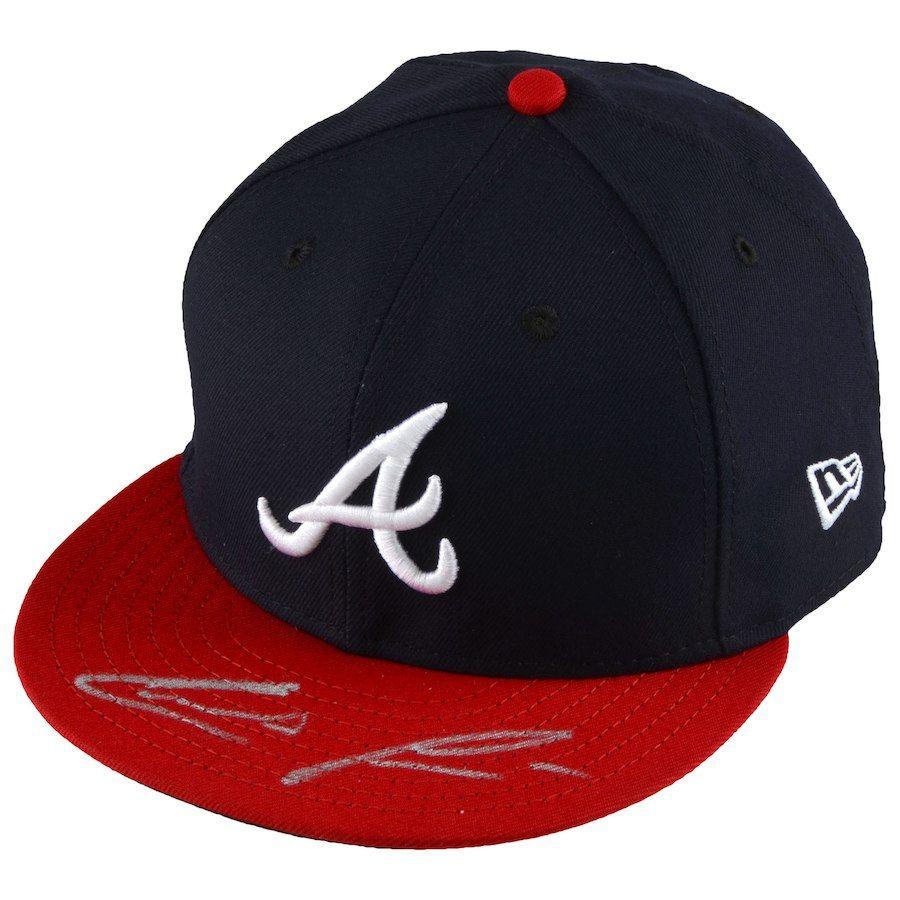 b356b32cd98 Autographed Atlanta Braves Ronald Acuna Fanatics Authentic New Era ...