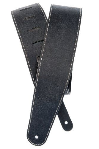 Planet Waves Stonewashed Leather Guitar Strap With Contrast Stitch Black By Planet Waves 23 44 From The Manufactu Leather Guitar Straps Guitar Strap Guitar