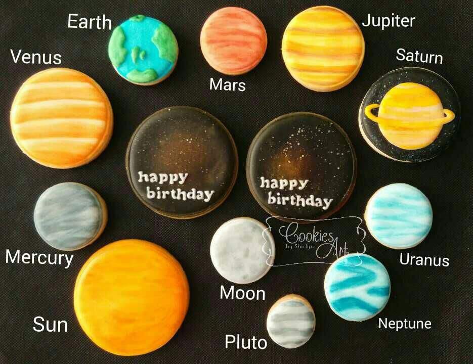 Solar System Cookie Connection Cookie Inspiration in