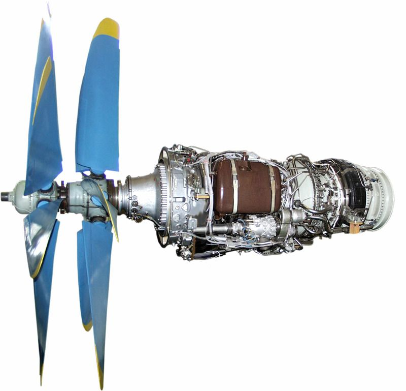 ukrainian ivchenko progress d-27 three-shaft counter-rotating propfan engine,  currently only used to power the antonov an-70 heavy transport prototypes