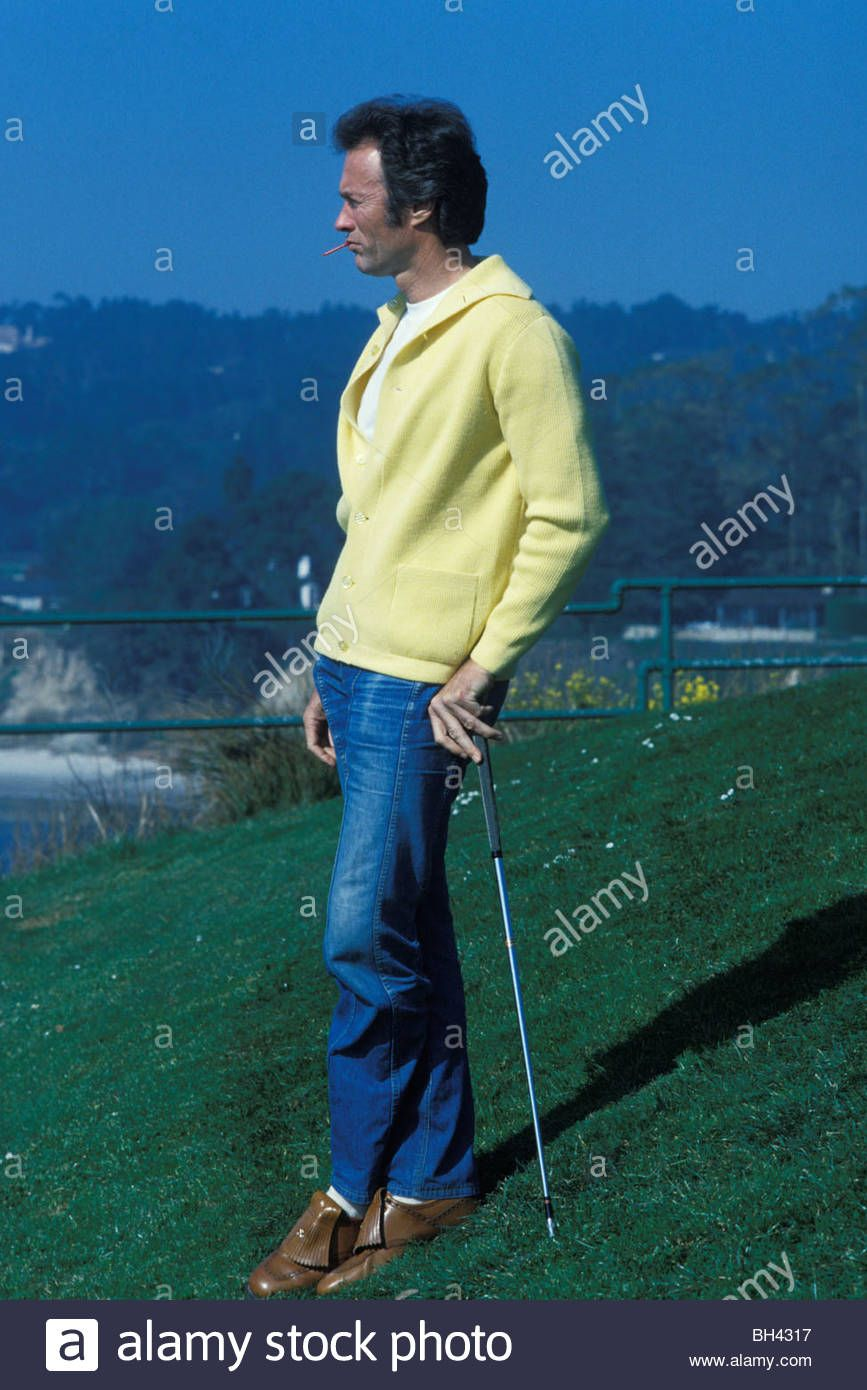Actor Director Clint Eastwood Plays Golf Near His Home In Pebble Beach Carmel The Late 1970s