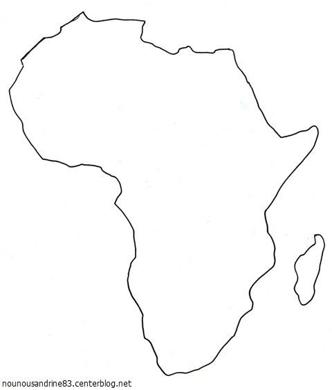 Top activité manuelle : la carte africaine | 5 continents | Pinterest  QT23