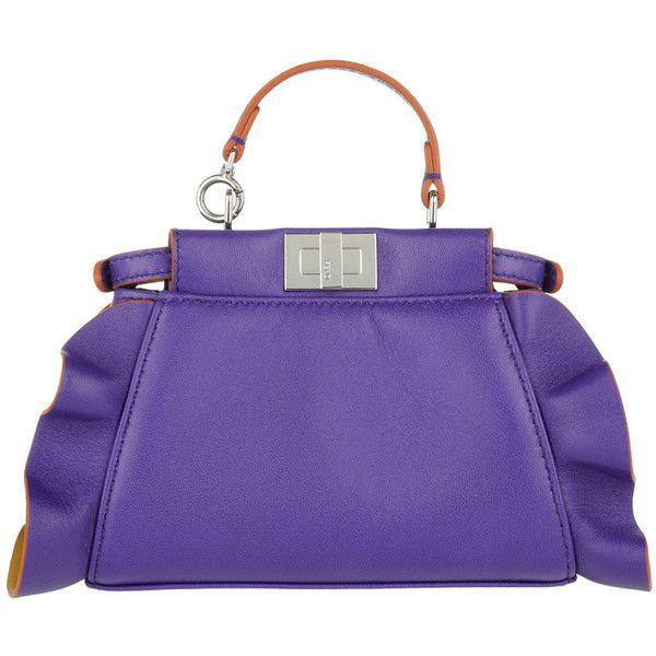 Fendi Micro Mini Peekaboo Bag In Purple And Amber hNC1vBd9i