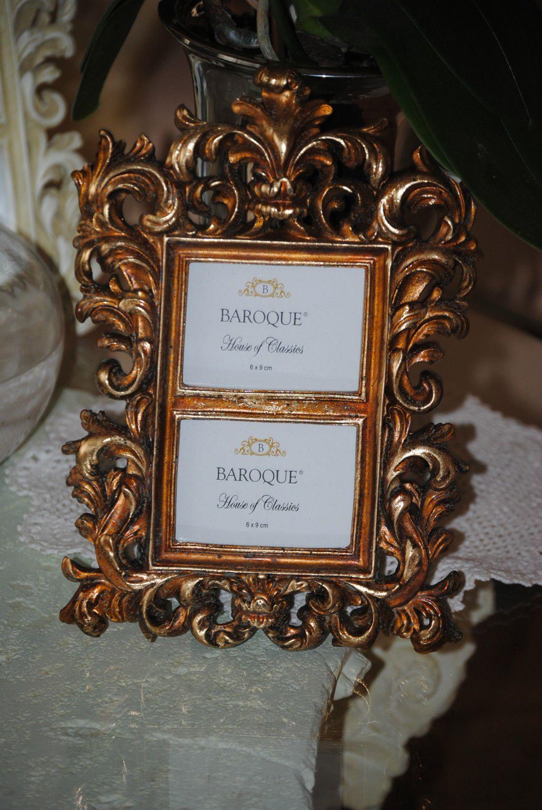 Shabby Stil Möbel doppelt bilderrahmen fotorahmen rahmen deko antik barock shabby stil