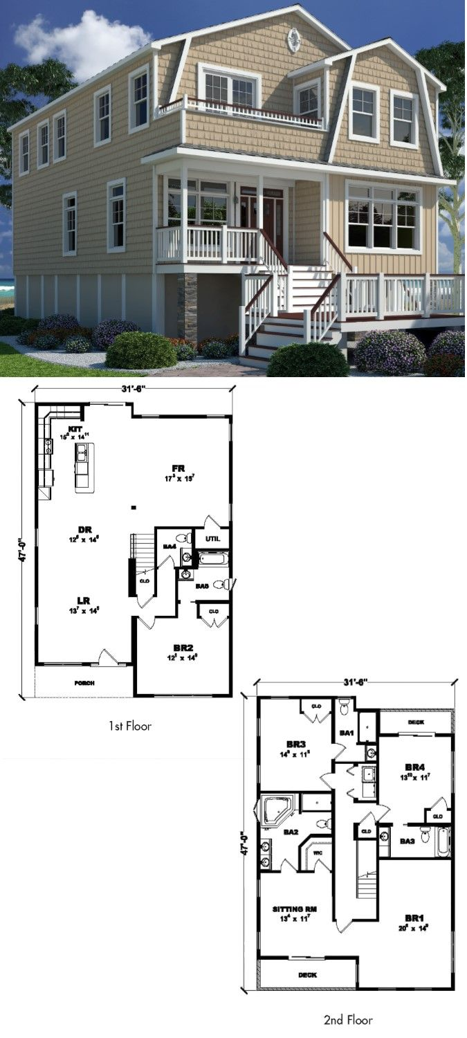 The Oyster Cove- 2,692 sq. ft. Two Story Style Home with 4 ... on