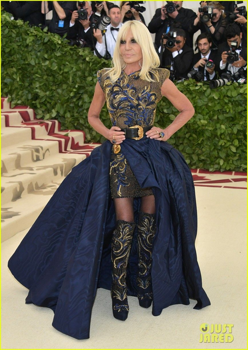 Donatella Versace Arrives For Met Gala 2018 Co Hosting Duties