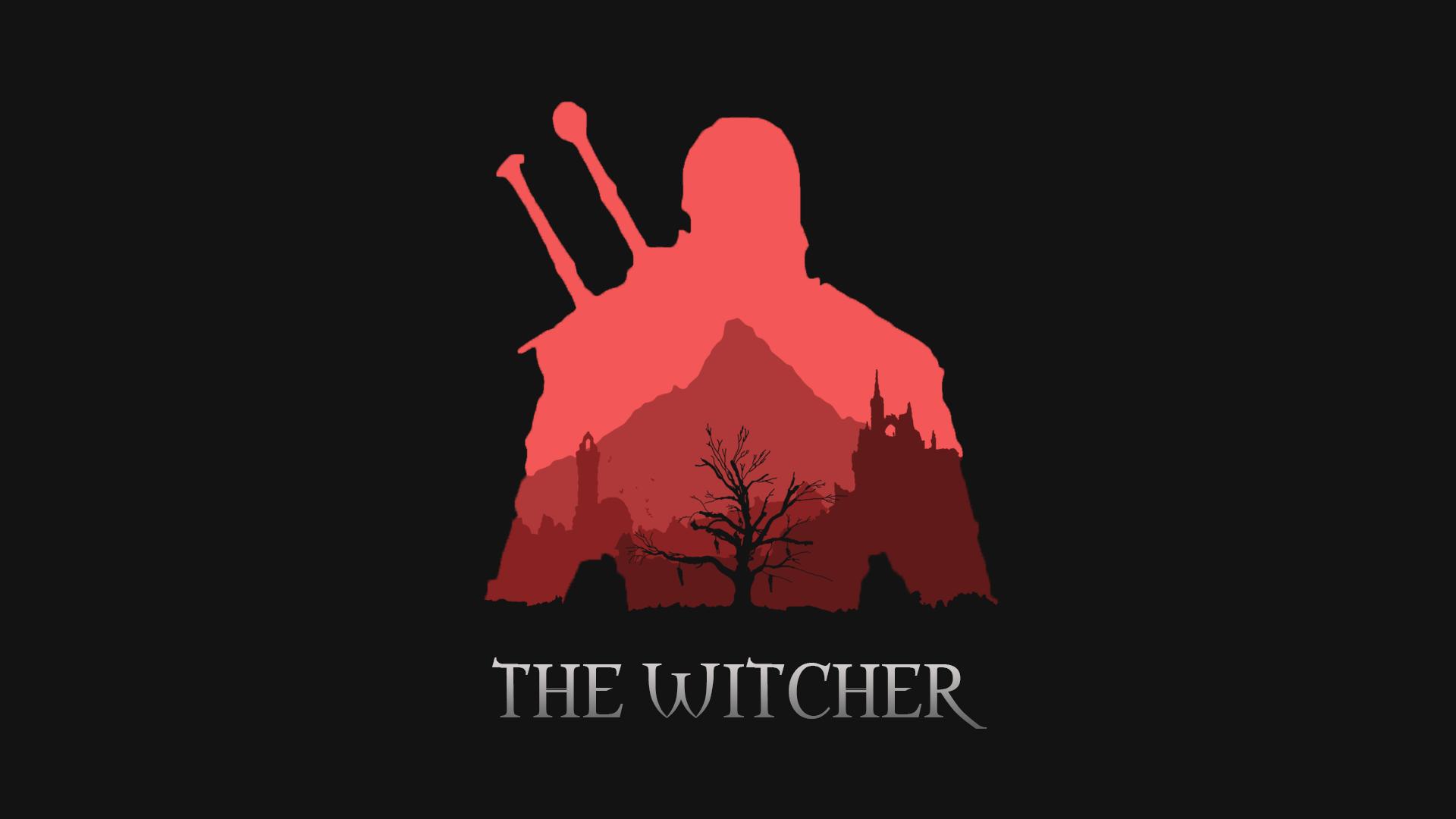 Minimalist Witcher Wallpaper (1080p) witcher Witcher