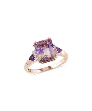 Look at this #zulilyfind! Amethyst & Diamond Square Ring by Delmar #zulilyfinds