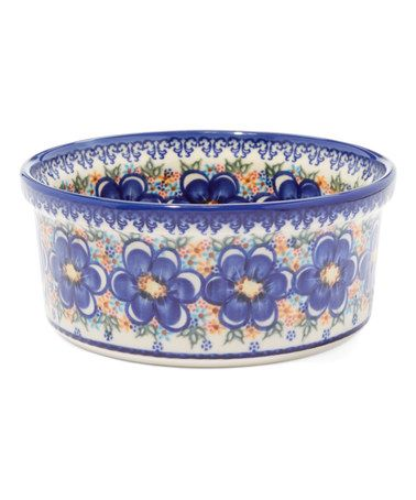 Another great find on #zulily! Blue Moon Hand-Painted Stoneware Soufflé Dish #zulilyfinds