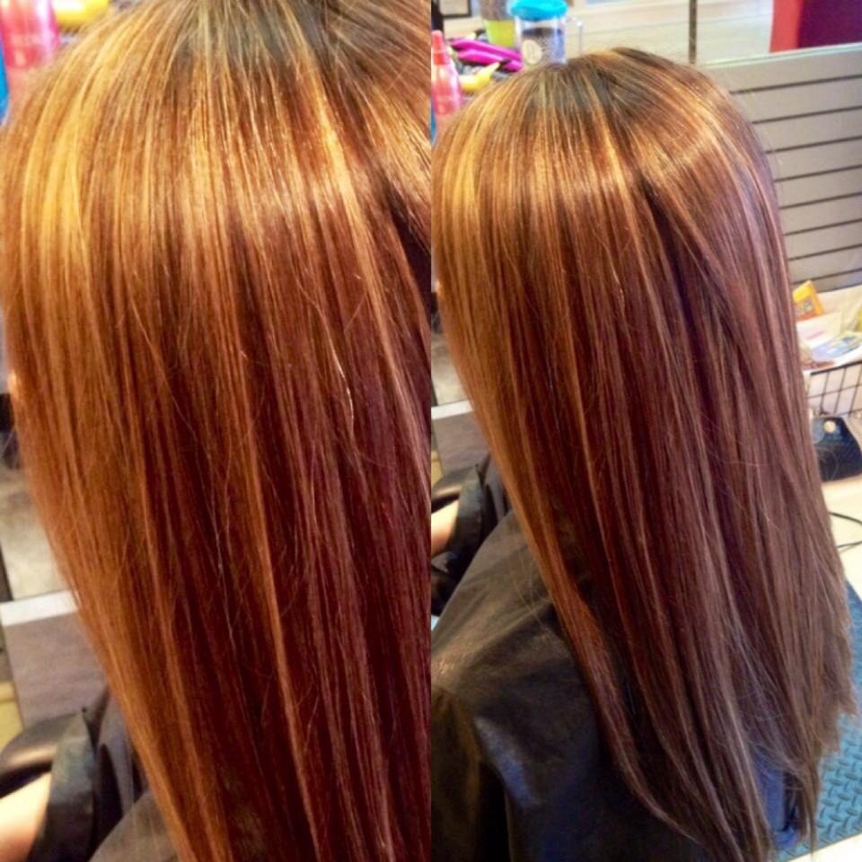 Mocha basecolor with caramel highlights! Hair styles