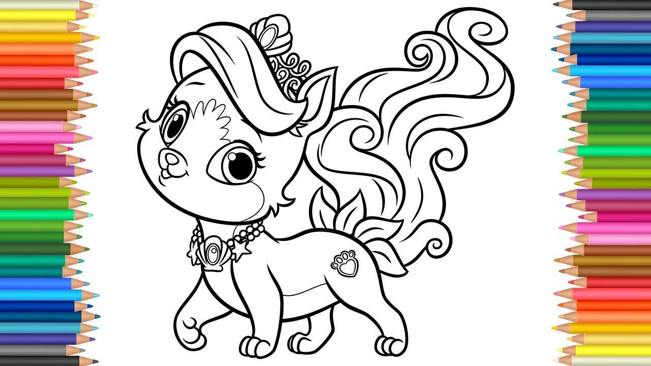 Coloring Pages Palace Pets Kitty L Coloring Book L Videos For Children L Kostenlose Ausmalbilder Malvorlagen Disney Malvorlagen