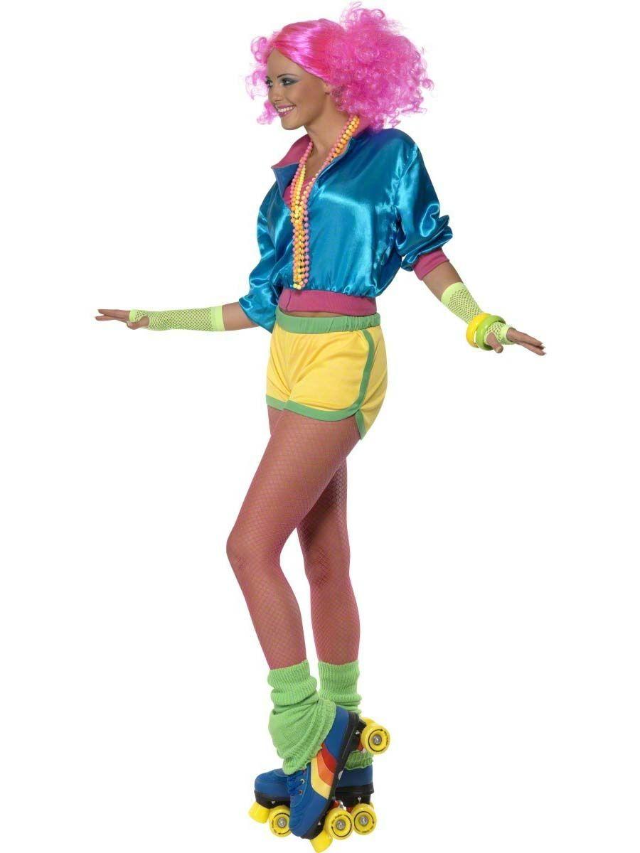 Adult 80's Neon Skater Girl Costume 80s fancy dress, 80s