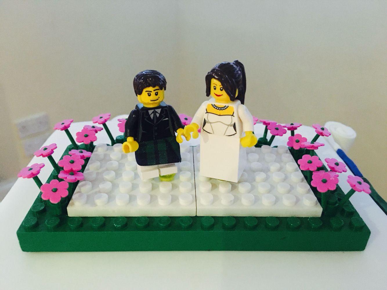 Lego Themed Wedding Cake Topper Grampian Hotel Perth