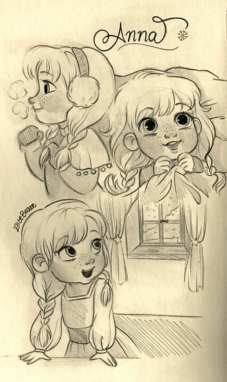 elisebrave:  Baby Anna! <3 I received lots of requests about her, so I really hope you like it! ^-^ Elsa will be the next one! *comments are always appreciated, I'd love to know what you think!^-^*
