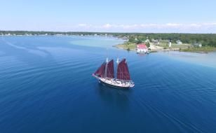 The big schooners, sloops and frigates that played such an important role in the history of the Great Lakes are a colorful part of Traverse City's landscape. In fact, Traverse City has more of these imposing sailing vessels than any other port in Michigan