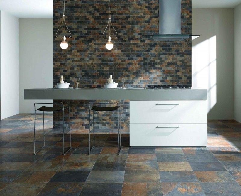 Natural Slate Ceramic Tileworks Minnesota Kitchen Design Open Slate Tile Floor Slate Tile