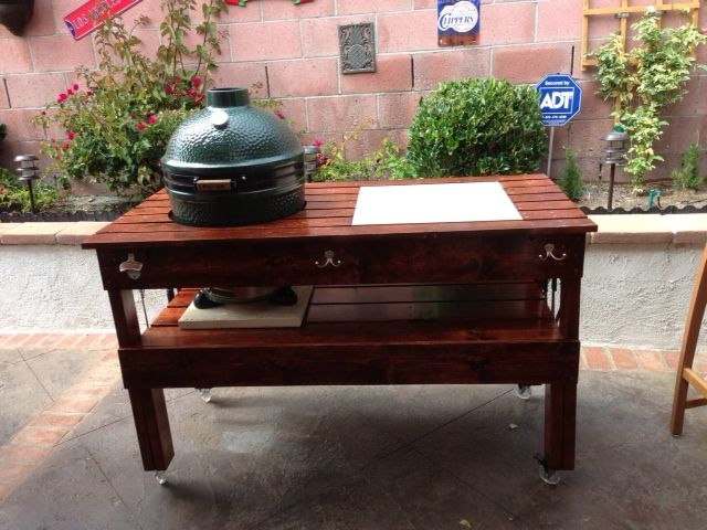 High Quality Big Green Egg Table Plans Large When I Got My Big Green Egg I Got The Large  Table To Go With It SaveEmail YellaWood Outdoor Building Project Plans  Outdoor ...