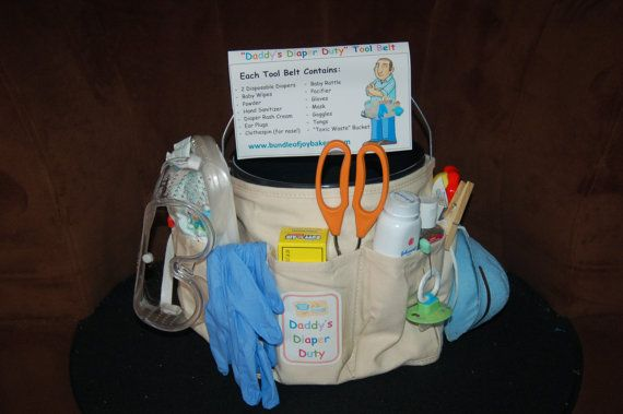 New Dad Baby Shower Gift Daddys Diaper Duty Tool Belt Baby