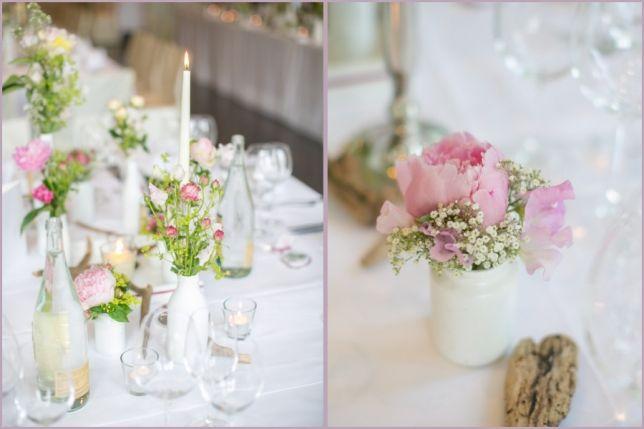 Rosa Mit Weissen Flaschen Hochzeit