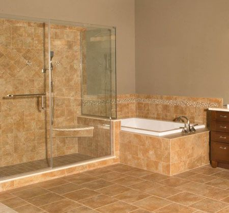 design romantuscan contemporary bathroom - Tuscan Bathroom Design