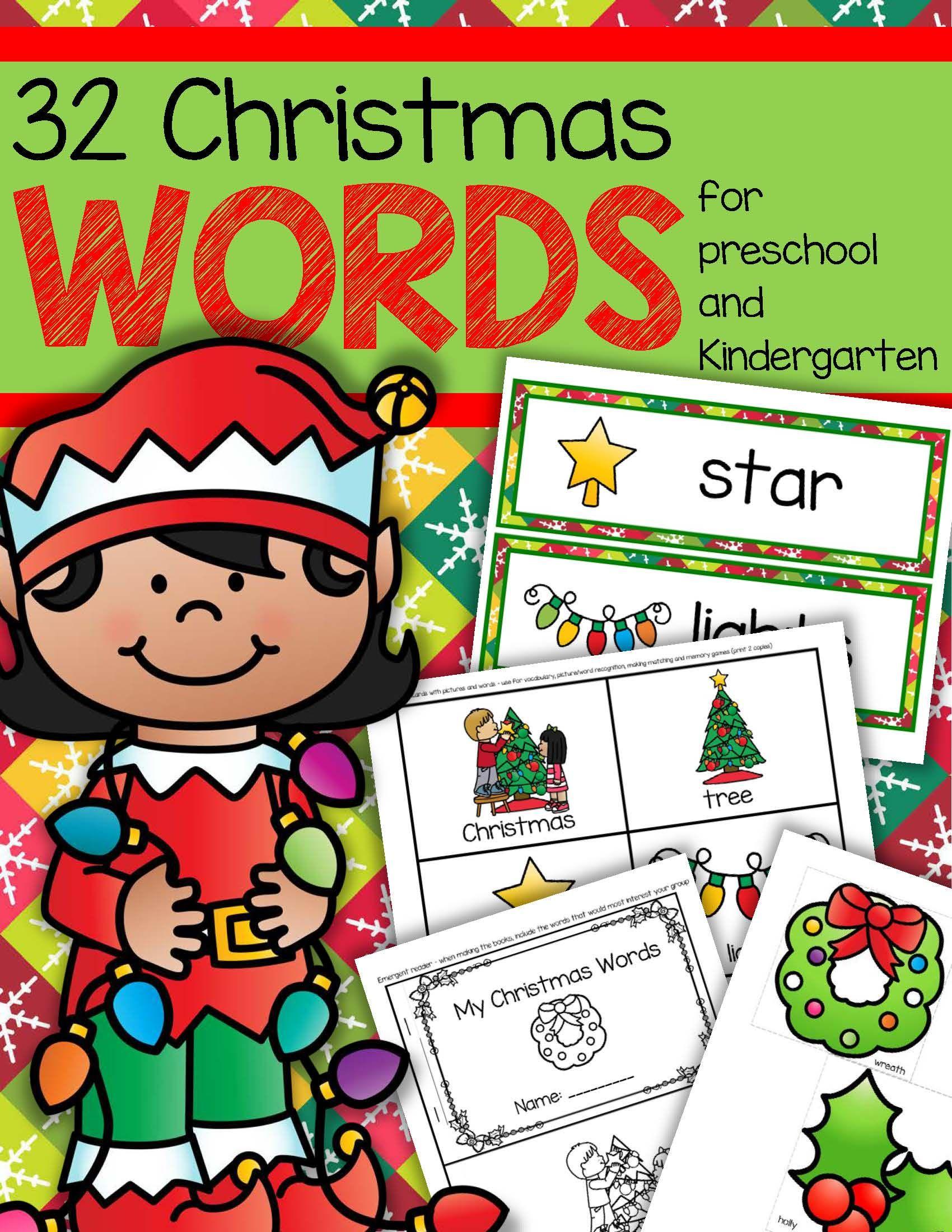 Christmas Vocabulary Center Amp Group Activities For Preschool Amp Kindergarten
