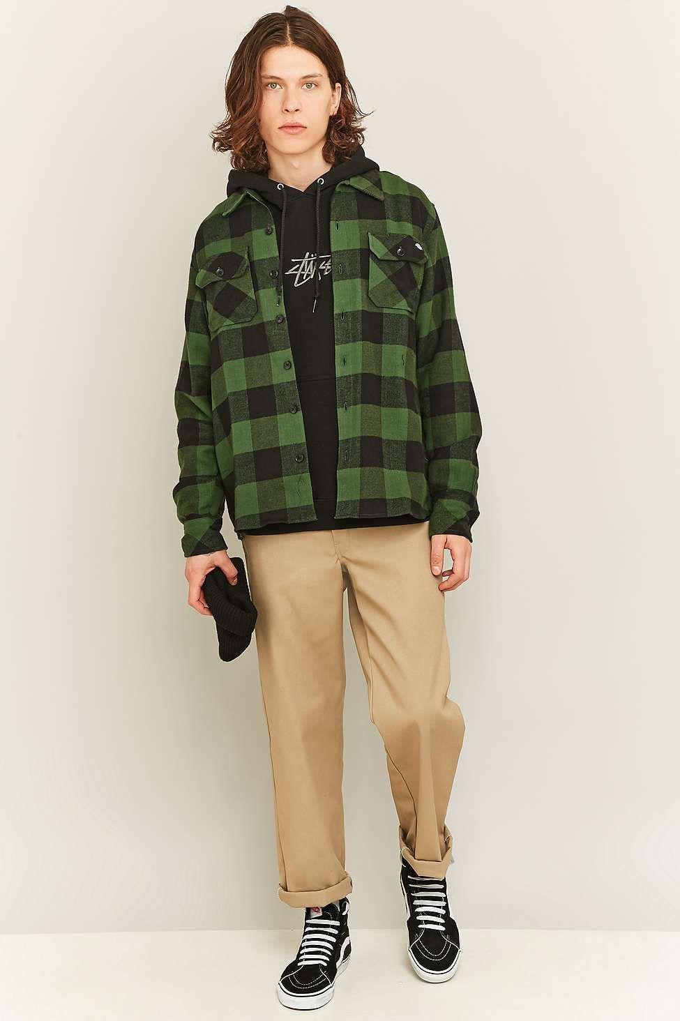 7a3e03b136832 Dickies Sacramento Pine Green Check Shirt - Urban Outfitters ...