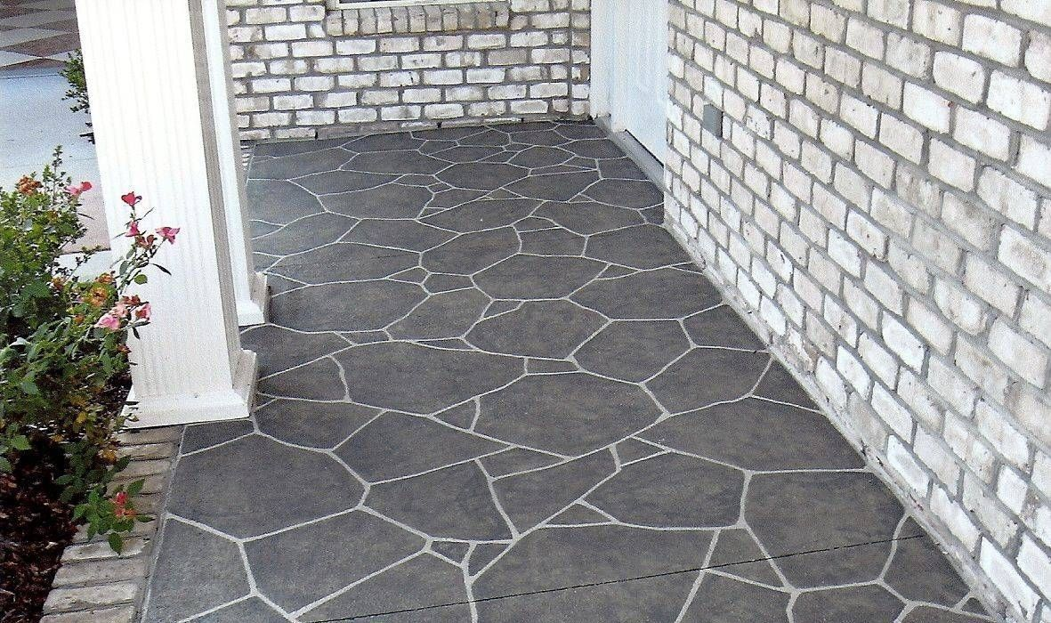 Concrete Porch Floor Covering Ideas