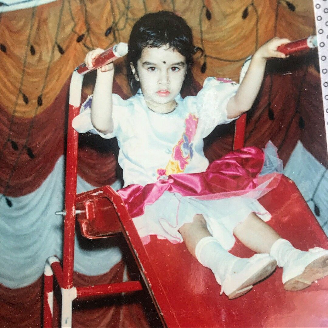 030518 Shraddha Kapoor Childhood Picture From Her Brother 7th Birthday Celebration