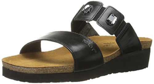 Naot Women's Michele Wedge Sandal, Black Madras Leather, 42 EU/10.5-11 M US -- Check this awesome product by going to the link at the image.