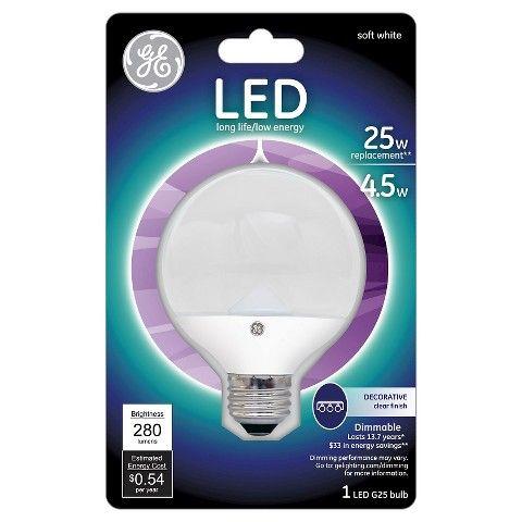 Ge Led 25 Watt Cam G25 Light Bulb Soft White Clear Bulb Target Ge Led Bulb Light Bulb