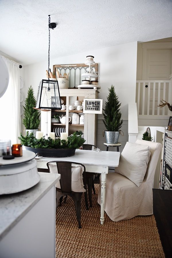 simply cozy winter dining room  winter living room
