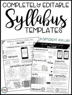 Syllabus and Meet the Teacher Editable Infographic