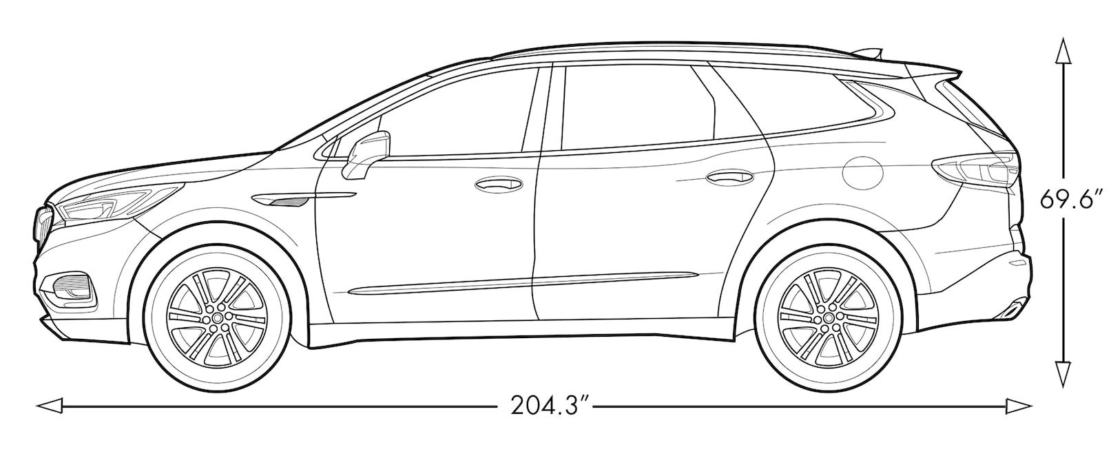 Diagram image showing the height and length of the 2019