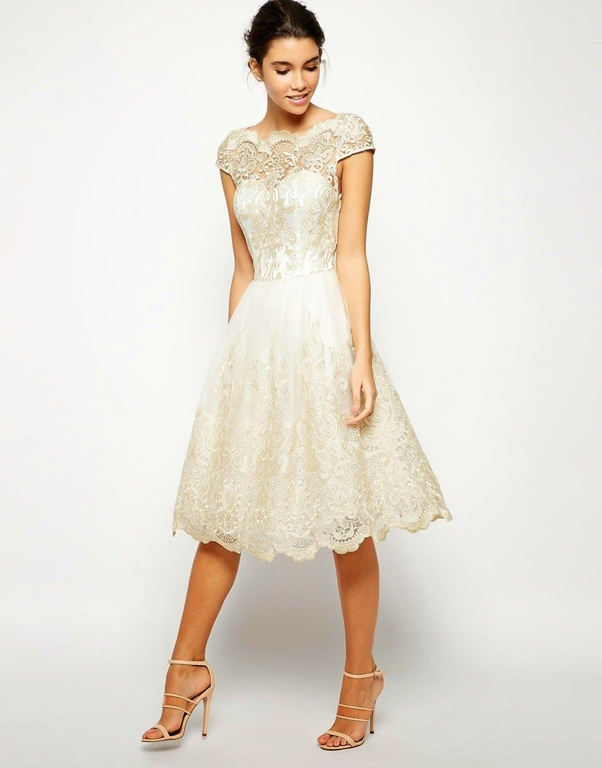Cream cocktail dresses